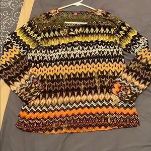 Black and gold printed blouse